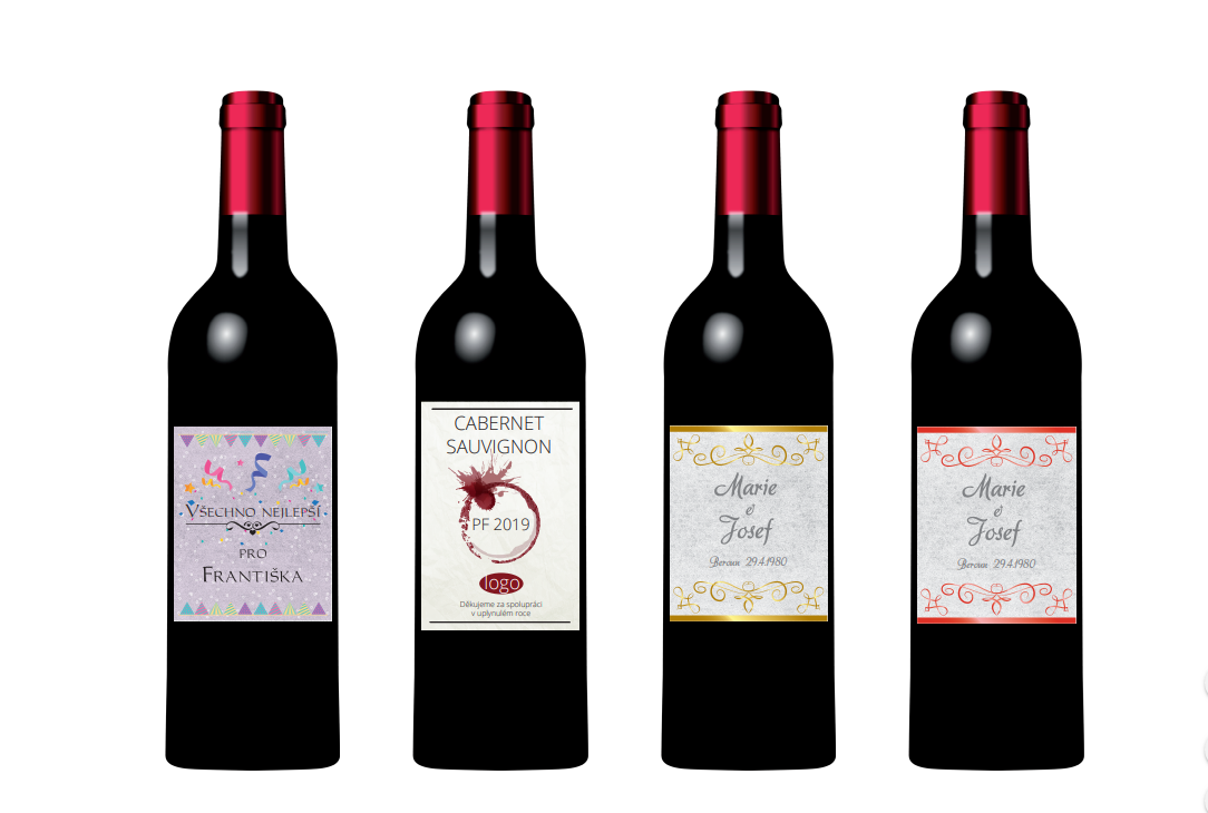 dárkové víno s vlastní etiketou